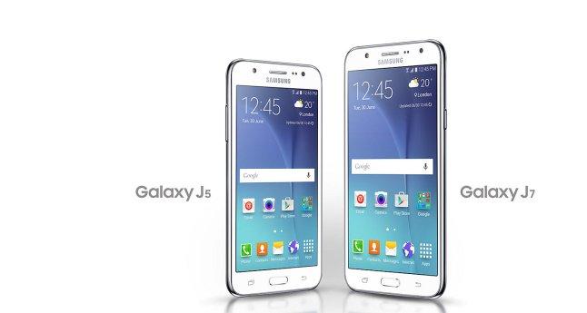 Perbendingan ukuran Samsung J5 dan Samsung J7